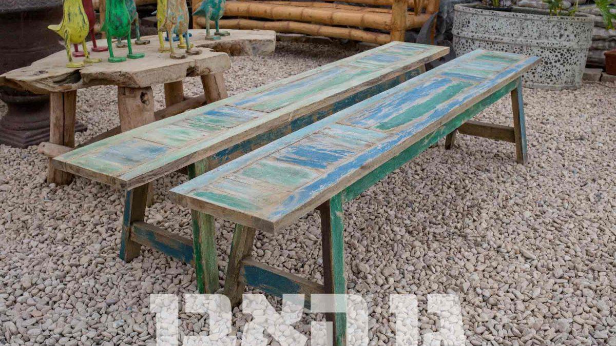 ספסל עץ ממוחזר