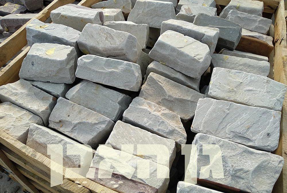 אבן סנדסטון לבנה לתיחום