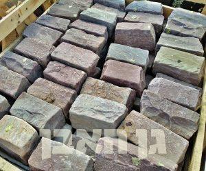 אבן סנדסטון מיקס חום לתיחום