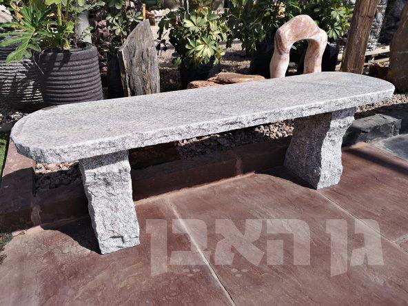 ספסל אבן גרניט אפורה